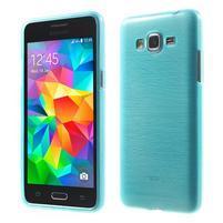 Broušený gélový obal pre Samsung Galaxy Grand Prime - tyrkysový