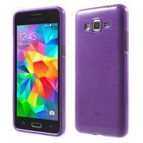 Broušený gélový obal pre Samsung Galaxy Grand Prime - fialový