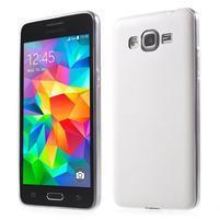 Ultratenký kožený kryt pre Samsung Grand Prime - biely
