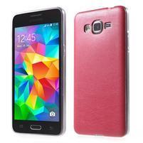 Ultratenký kožený kryt na Samsung Grand Prime - červený