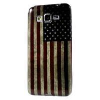 Gélový obal Samsung Galaxy Grand Prime G530H - US vlajka