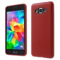 Tenký pogumovaný obal pre Samsung Galaxy Grand Prime - červený