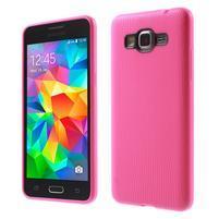 Tenký pogumovaný obal pre Samsung Galaxy Grand Prime - rose