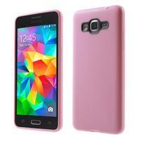 Tenký pogumovaný obal pre Samsung Galaxy Grand Prime - ružový