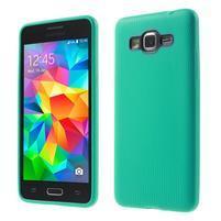 Tenký pogumovaný obal pre Samsung Galaxy Grand Prime - cyan