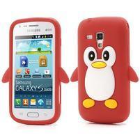Silikonový obal tučniak pre Samsung Galaxy S Duos - červený