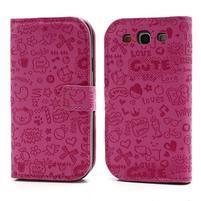 Peňaženkové puzdro pre Samsung Galaxy S3 - rose