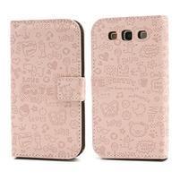 Peňaženkové puzdro pre Samsung Galaxy S3 - ružové