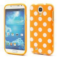 Oranžový puntíkovaný obal pre Samsung S4 mini