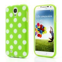 Zelený puntíkovaný obal pre Samsung S4 mini