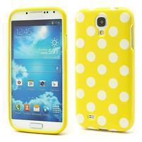 Žltý puntíkovaný obal pre Samsung S4 mini