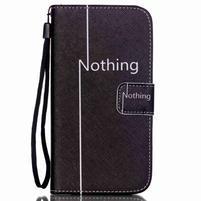 Knížkové PU kožené puzdro pre Samsung Galaxy S5 - nothing