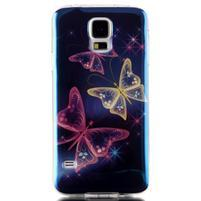 Blu-ray gélový obal s odlesky pre Samsung Galaxy S5 - čarovné motýle