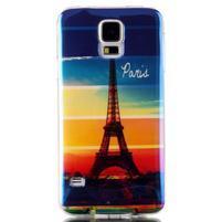 Blu-ray gélový obal s odlesky pre Samsung Galaxy S5 - Eiffelova veža