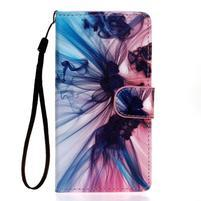 Knížkové PU kožené puzdro pre Samsung Galaxy S5 - iluze