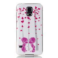 Rich gélový obal pre Samsung Galaxy S5 - láska