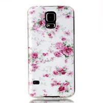 Rich gélový obal pre Samsung Galaxy S5 - kvety