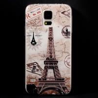 Ultratenký slim gelový obal na Samsung Galaxy S5 - Eiffelova věž