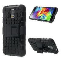 Outdoor odolný kryt pre mobil Samsung Galaxy S5 - čierný