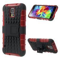Outdoor odolný kryt pre mobil Samsung Galaxy S5 - červený