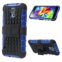 Outdoor odolný kryt pre mobil Samsung Galaxy S5 - modrý