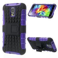 Outdoor odolný kryt pre mobil Samsung Galaxy S5 - fialový