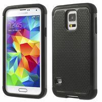 Odolný obal 2v1 pre mobil Samsung Galaxy S5 - čierný