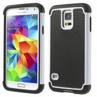 Odolný obal 2v1 pre mobil Samsung Galaxy S5 - biely