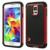 Odolný obal 2v1 pre mobil Samsung Galaxy S5 - červený