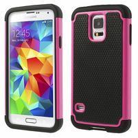Odolný obal 2v1 pre mobil Samsung Galaxy S5 - rose