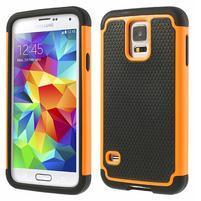 Odolný obal 2v1 pre mobil Samsung Galaxy S5 - oranžový