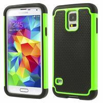 Odolný obal 2v1 pre mobil Samsung Galaxy S5 - zelený
