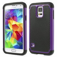 Odolný obal 2v1 pre mobil Samsung Galaxy S5 - fialový