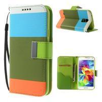 Colory PU kožené puzdro pre mobil Samsung Galaxy S5 - variant IV