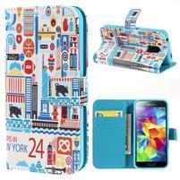 Emotive PU kožené puzdro pre Samsung Galaxy S5 mini - New York