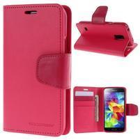 Sonata PU kožené puzdro pre Samsung Galaxy S5 mini - rose