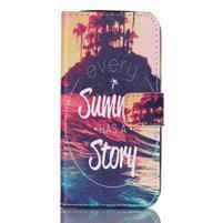 Stand peňaženkové puzdro pre Samsung Galaxy S5 mini - pribeh
