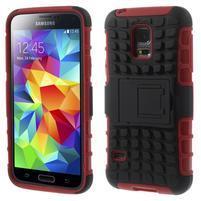 Outdoor odolný obal pre mobil Samsung Galaxy S5 mini - červený