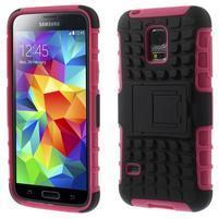 Outdoor odolný obal pre mobil Samsung Galaxy S5 mini - rose