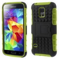 Outdoor odolný obal pre mobil Samsung Galaxy S5 mini - zelený