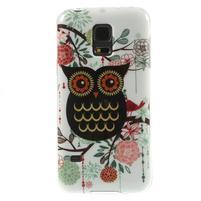 Owls gélový obal pre Samsung Galaxy S5 mini - paní sova