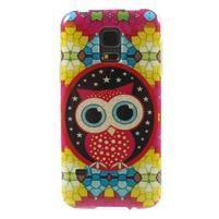 Owls gélový obal pre Samsung Galaxy S5 mini - sovička