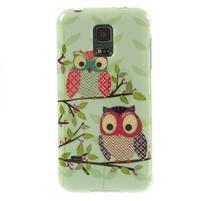 Owls gélový obal pre Samsung Galaxy S5 mini - sovy na vetve
