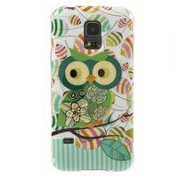 Owls gélový obal pre Samsung Galaxy S5 mini - vykulená sova
