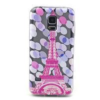 Transparentný gélový obal pre mobil Samsung Galaxy S5 mini - Eiffelova veža