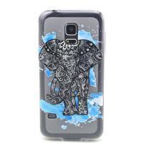 Transparentní gelový obal na mobil Samsung Galaxy S5 mini - slon