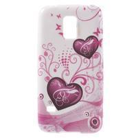 Softy gélový obal pre Samsung Galaxy S5 mini - srdca