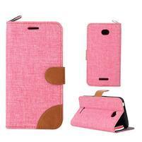 Jeans pouzdro na mobil Sony Xperia E4 - růžové