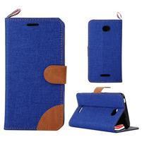 Jeans puzdro pre mobil Sony Xperia E4 - modré
