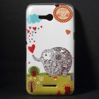 Gélový obal na Sony Xperia E4g - zamilovaný slon
